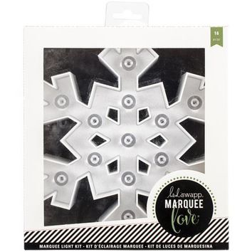 American Crafts Heidi Swapp Marquee Love Collection Christmas Marquee Kit Plastic Snowflake