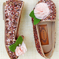 Joyfolie Rosie Sequins Loafer & Hair Clip - Kids | zulily