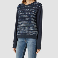 Womens Stria Sweat (Ink) | ALLSAINTS.com