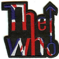 The Who Iron-On Patch Arrow Letters Logo