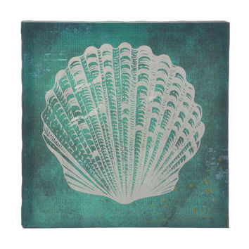 White Seashell Canvas Wall Art