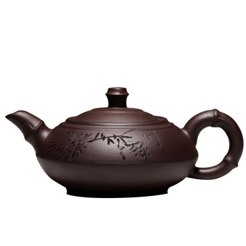 Special Offer Authentic Yixing Teapot Manual Tea Set Teapot Old Purple Clay Bamboo Pot High Capacity 280ml Free Shipping