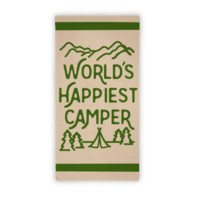 WORLD'S HAPPIEST CAMPER BEACH TOWEL