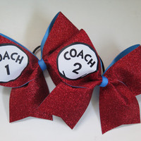 "3"" Coach 1 and Coach 2 Cheer Bows"