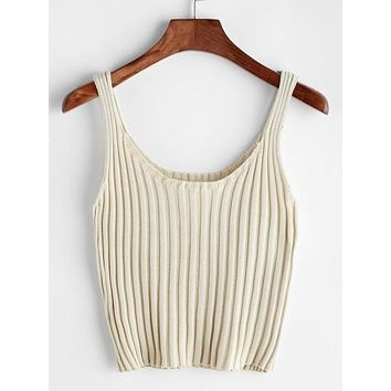 AHD Styles Ribbed Knitted Tank Top