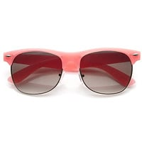 Womens Pastel Colors Half Frame Horned Rim Sunglasses 8958