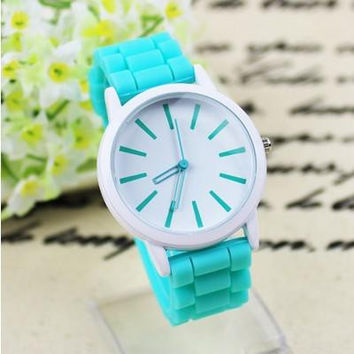 New arrival 12 colors Ladies Watch Classic Geneva watches Silicone Jelly ladies watches fashion watches lot 10pcs 20pcs free ship best2011