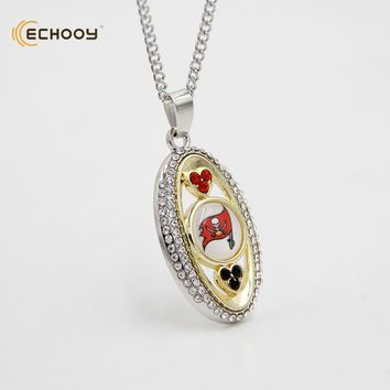 woman classic jewelry Personalized Tampa Bay Buccaneers Pendant Necklaces Custom football team logo necklace Bridesmaid Gift