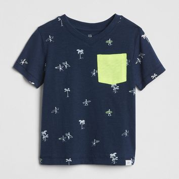 Print Pocket T-Shirt|gap