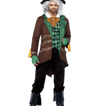 Classic Mad Hatter Costume (X-Large,Brown)