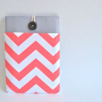 "Laptop Sleeve MacBook Pro 15.6"" HP Chromebook 14"" Custom Size - Chevron Print"