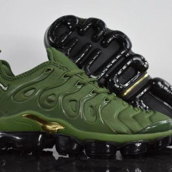 "PEAP 2018 Nike Air Max Plus TN VM ""Amry Green"" Vapormax Vapor Max Woman Fashion Running Sneakers Sport Shoes"