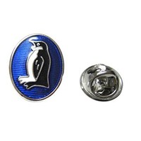 Oval Penguin Lapel Pin [Jewelry]