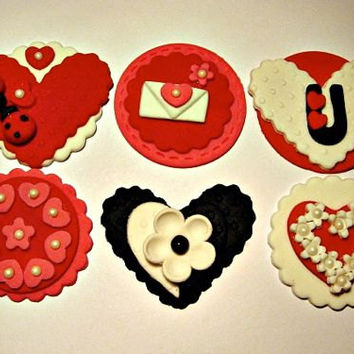 Valentines Collection. Set of 12 (one dozen) 2 of each pattern.