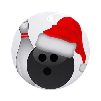 CHRISTMAS BOWLING ROUND ORNAMENT