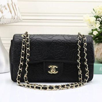 DCCKH3L Chanel' Simple Fashion All-match Flower Embossed Metal Chain Single Shoulder Messenger Bag Women Small Square Bag