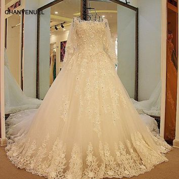 LS47706 Bling wedding dresses Lace strapless with jacket corset back ball gown princess wedding gown fashion new arrival