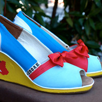 KOOAK Kustoms - Disney Princess Snow White-Inspired Toms Wedges