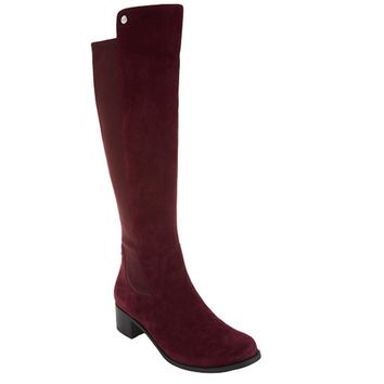 Marc Fisher Incept Wide Calf Burgundy Tall Shaft Boots