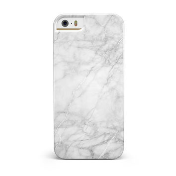 White Scratched Marble iPhone 5/5S/SE INK-Fuzed Case