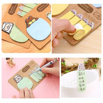 Cute Funny Personalized Animal Sticker Post It Memo Flag Sticky Notes 4 colors