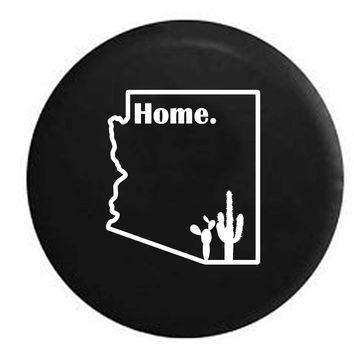 Arizona Desert Cactus Home State Edition RV Camper Jeep Spare Tire Cover