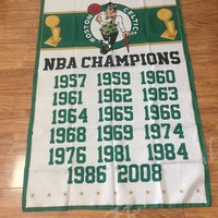 Boston Celtics flag 3ftx5ft Banner 100D Polyester Flag metal Grommets 90x150cm