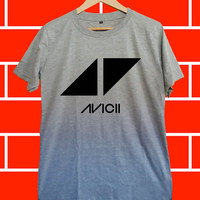 Avicii Dj - Screenprint Grey T shirt for Woman and Mens fast shipping