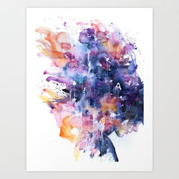 in a single moment all her greatness collapsed Art Print by Agnes-cecile