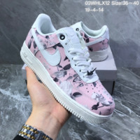 HCXX N1350 Nike Air Force 1 Low Roes Fashion Casual Skte Shoes White