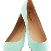 ModCloth Minimal Pop, Skip, and a Jump Flat in Mint