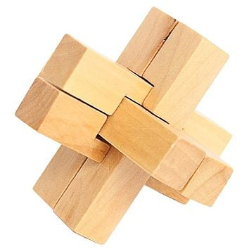 Lock Kids Wooden Traditional Puzzle Adult Kids Brain Teaser Game Intellectual Jigsaw Puzzles