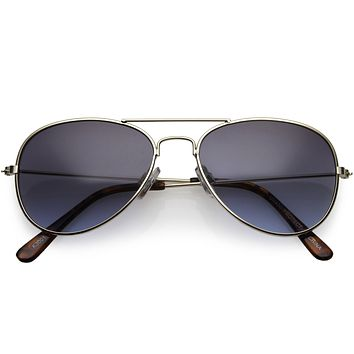 Kids Classic Slim Metal Teardrop Crossbar Small Aviator Sunglasses D021