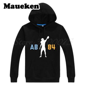 """Men Hoodies 84 Antonio Brown Steelers """"AB 84"""" Sweatshirts Hooded Thick Lace-up for Pittsburgh fans gift Autumn Winter W17100623"""