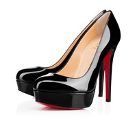 Christian Louboutin Cl Bianca Black Patent Leather 140mm Stiletto Heel Classic