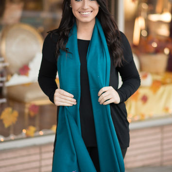 Classic Teal Scarf