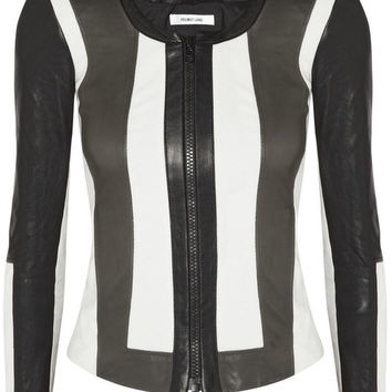 Helmut Lang Leather And Canvas Jacket