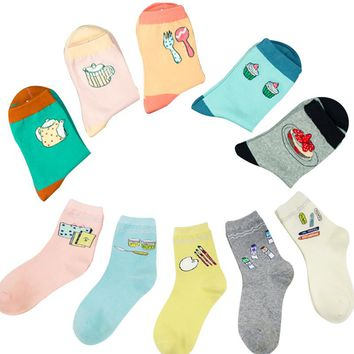 Food, Tea, Pie, Cup Cake Socks Funny Crazy Cool Novelty Cute Fun Funky Colorful