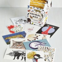 Critters Colorful Correspondence Postcard Set in Animals by Chronicle Books from ModCloth