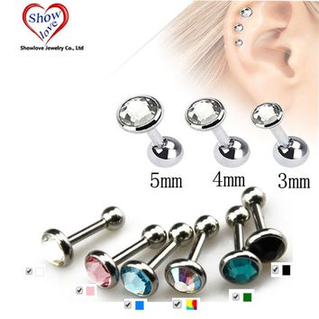 Ear Piercing Lip Body Helix Tragus Lobe Barbell Bar Earrings Ear Studs
