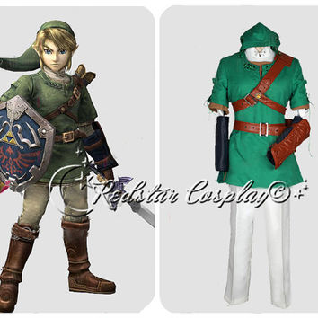 The Legend of Zelda Link cosplay costume - Custom made in Any size