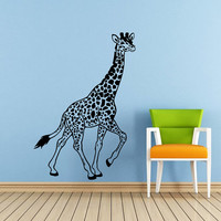 Wall Decals Giraffe Animals Jungle Safari African Childrens Decor Kids Vinyl Sticker Wall Decal Nursery Bedroom Murals Playroom Art SV6052