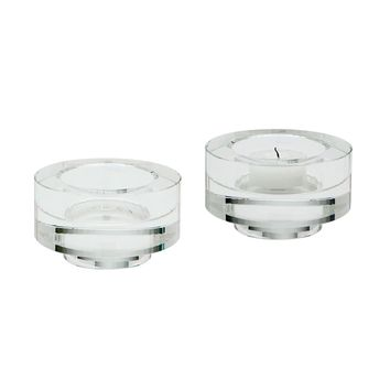 Fluted Crystal Votive -Set of 2 Clear