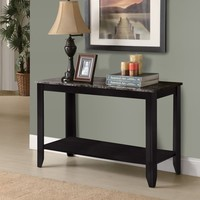 Black / Grey Marble-Look Top Sofa Console Table