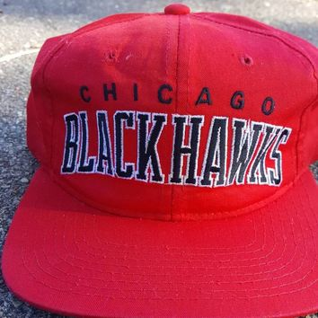 Vtg Starter Chicago Blackhawks snapback hat NHL Stanley Cup  Hockey cap Kane Toews