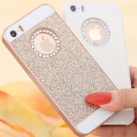 5S Fundas Cute Candy Glitter Bling Crystal Diamond Back Cover For Apple iPhone 5 5S 5G Hard Phone Cases