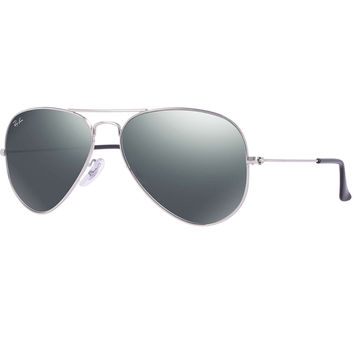 Ray-Ban Silver/Silver Mirror Aviator Large Sunglasses