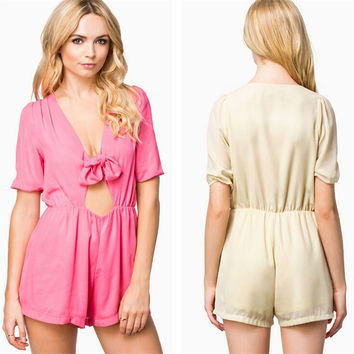 Sexy Hollow Out Butterfly Shaped Slim Women's Fashion Romper [6315477313]