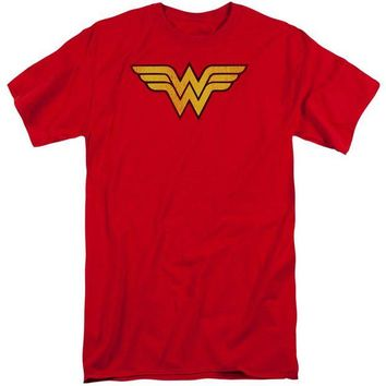 DCCKM83 Wonder Woman Logo Dist Short Sleeve Adult Tall