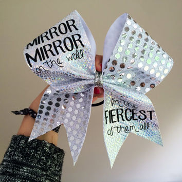 Mirror Mirror Holographic Cheer Bow